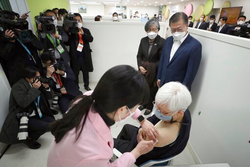 Asia Today: 1st vaccines reach arms in S. Korea, Hong Kong