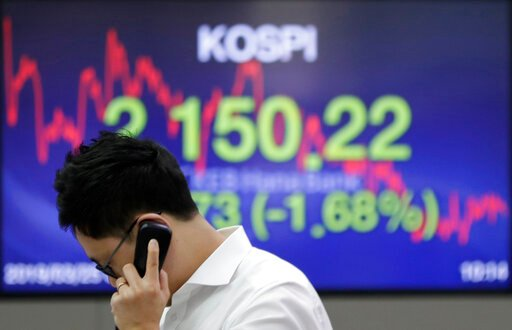 Asian shares sink, tracking Friday's retreat on Wall Street