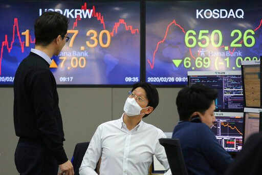 Asian shares slide on fears virus' spread may be unstoppable