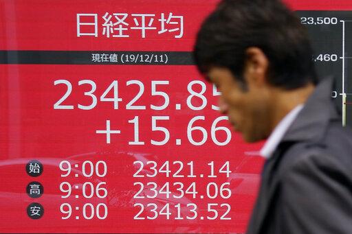 Asian stocks gain on reports Trump plans tariff delay