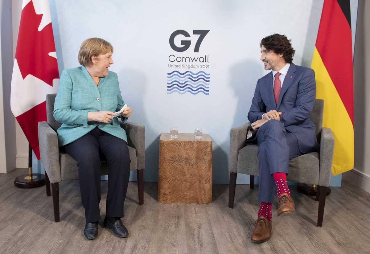 Justin Trudeau, Angela Merkel