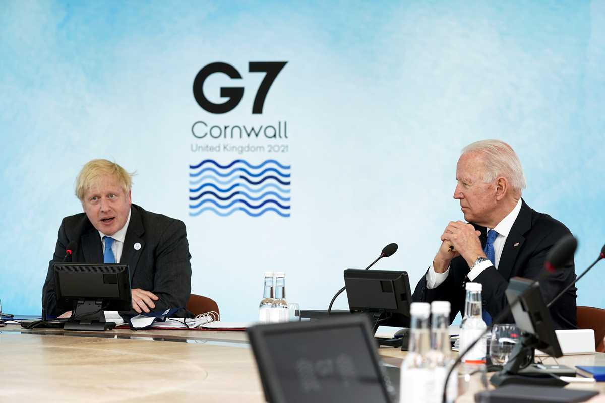 g 7 pledge to share but jostle for ground in the sandbox 2021 06 11 2 primaryphoto