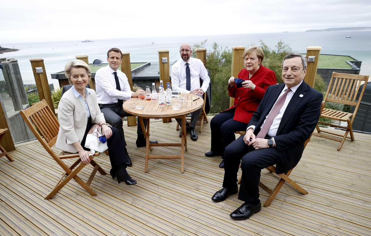 g 7 pledge to share but jostle for ground in the sandbox 2021 06 11 7 primaryphoto