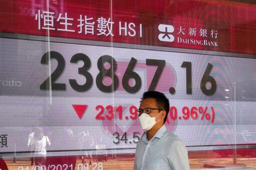 Global shares mixed as investors eye China property worries