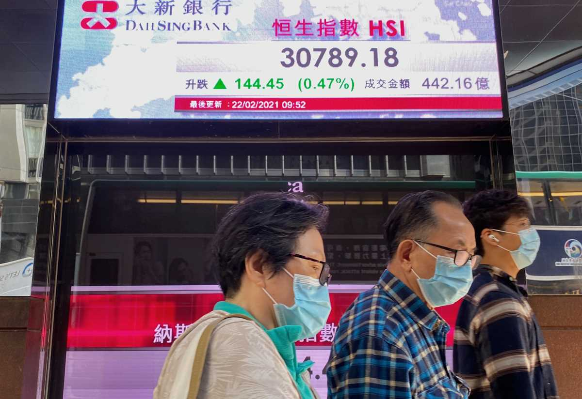 global shares mostly lower as investors  wary over stimulus 2021 02 22 3 primaryphoto