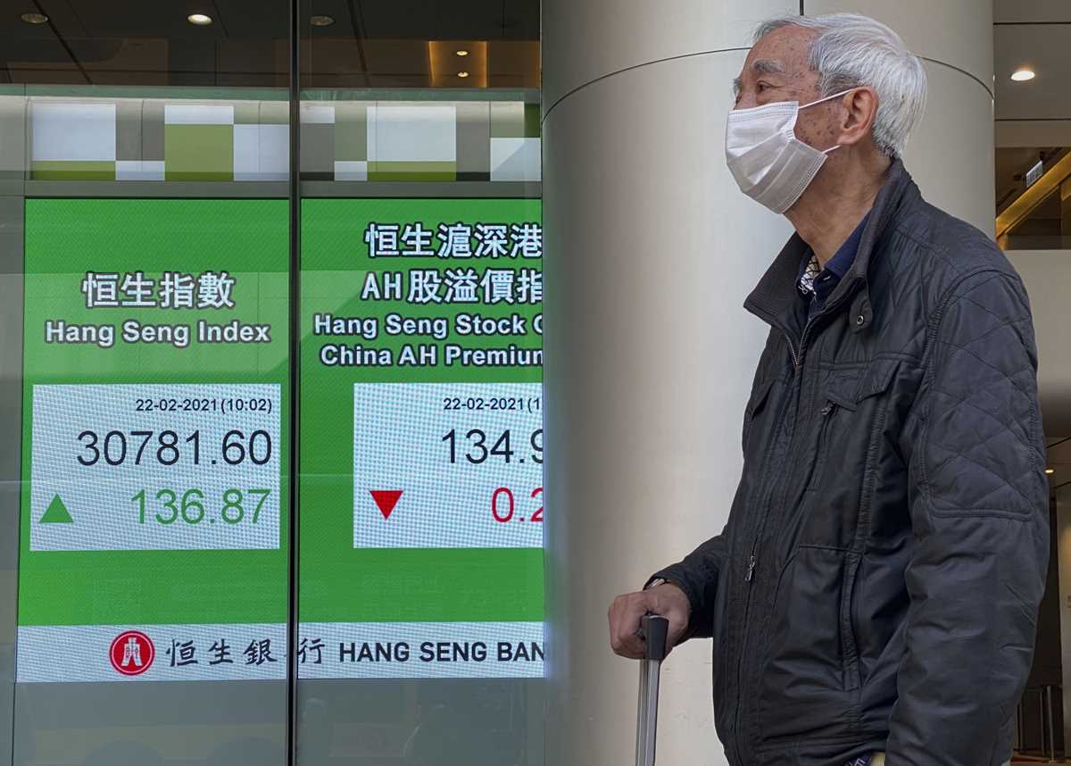 global shares mostly lower as investors  wary over stimulus 2021 02 22 4 primaryphoto