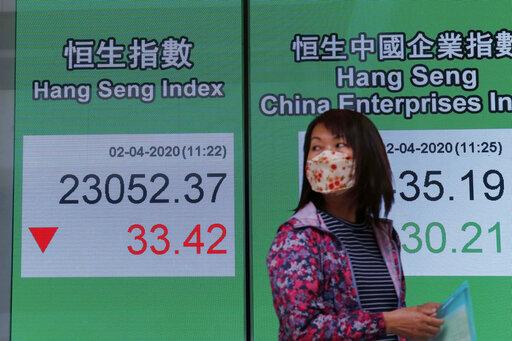 Global stocks gain as economic toll of virus worsens
