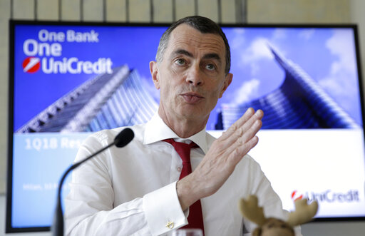 Italian bank UniCredit shares sink on CEO departure