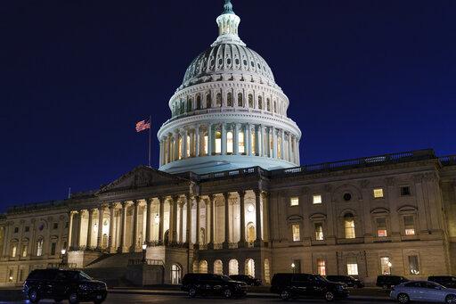Senate works through night, virus aid on path to passage