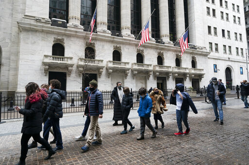 Stocks start mostly lower on Wall Street; GameStop surges