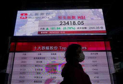 Stocks surge 7% on signs new virus deaths could be slowing