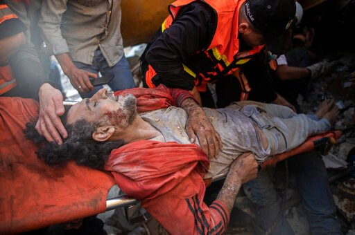 The Latest:  Death toll in Israeli strikes in Gaza up to 33