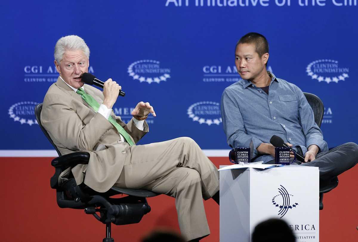 Bill Clinton, Tony Hsieh