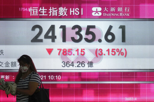 US stocks fall on fears of contagion from China real estate