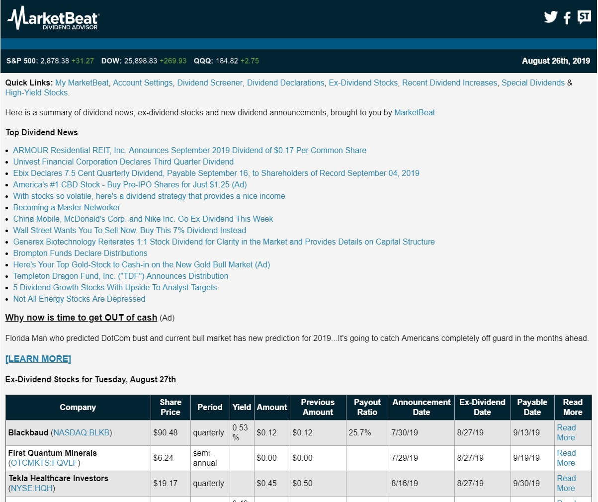 MarketBeat Dividend Advisor