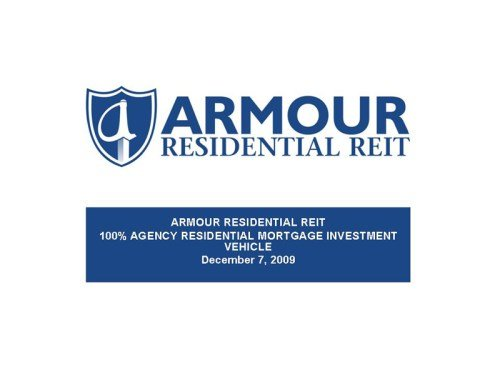 ARMOUR Residential REIT Inc