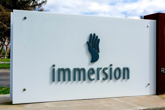 Immersion Stock is a Turnaround Play