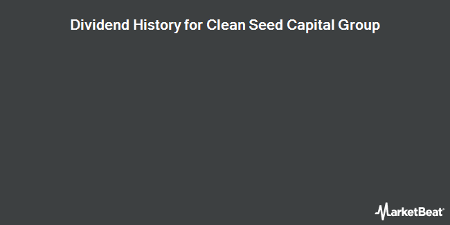 Dividend Payments by Quarter for Clean Seed Capital Group (CVE:CSX)