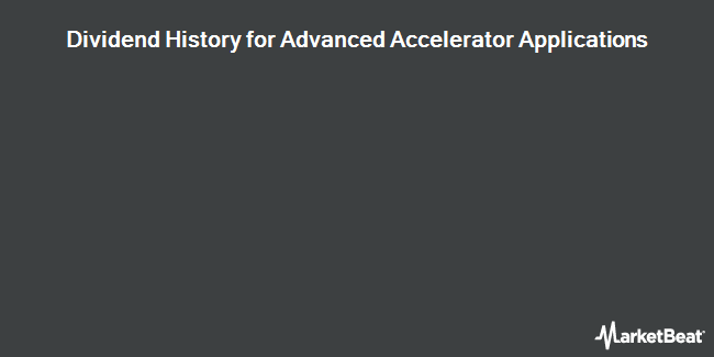 Dividend Payments by Quarter for Advanced Accelerator Applications S.A. (NASDAQ:AAAP)
