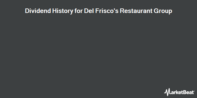 Dividend Payments by Quarter for Del Frisco`s Restaurant Group (NASDAQ:DFRG)