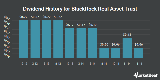 Dividend Payments by Quarter for BlackRock Real Asset Equity Trust (NYSE:BCF)