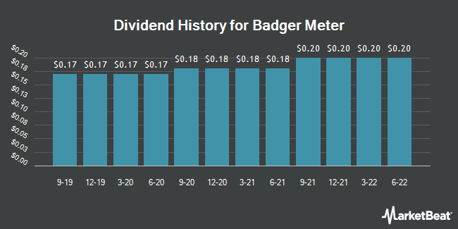 Dividend Payments by Quarter for Badger Meter (NYSE:BMI)