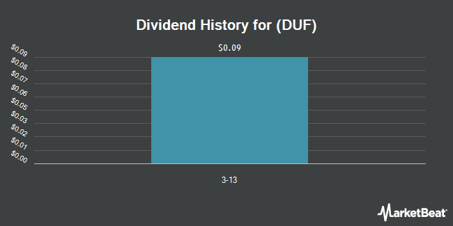 Dividend Payments by Quarter for Duff & Phelps (NYSE:DUF)