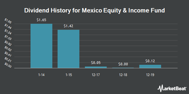 Dividend Payments by Quarter for Mexico Equity and Income Fund (NYSE:MXE)