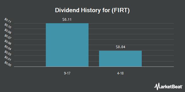 Dividend Payments by Quarter for First BancTrust (OTCMKTS:FIRT)