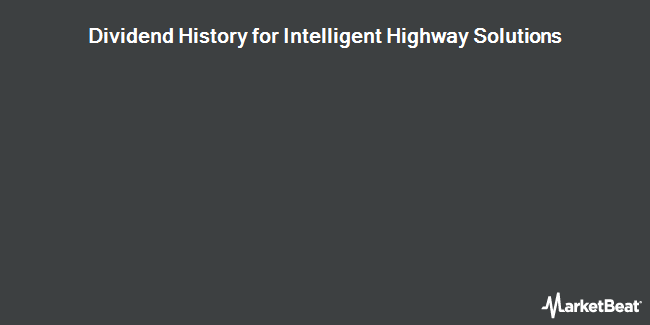 Dividend Payments by Quarter for Intelligent Highway Solutions (OTCMKTS:IHSI)