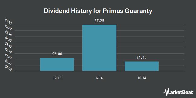 Dividend Payments by Quarter for Primus Guaranty (OTCMKTS:PRSG)