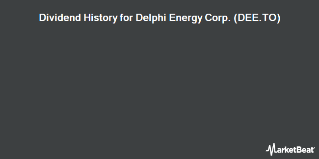 Dividend Payments by Quarter for Delphi Energy Corp. (TSE:DEE)