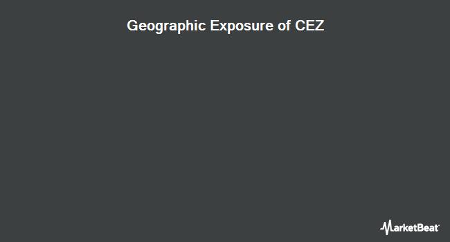 Geographic Exposure of VictoryShares Emerging Market Volatility Wtd ETF (NASDAQ:CEZ)