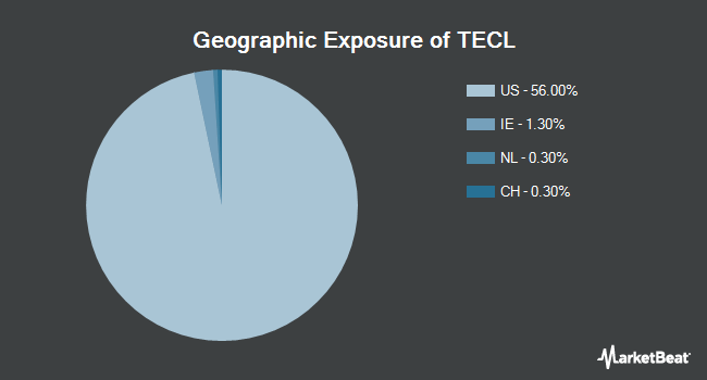 Geographic Exposure of Direxion Daily Technology Bull 3X Shares (NYSEARCA:TECL)