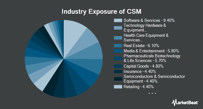 Industry Exposure of ProShares Large Cap Core Plus (BATS:CSM)