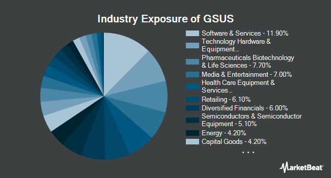 Industry Exposure of Goldman Sachs MarketBeta U.S. Equity ETF (BATS:GSUS)
