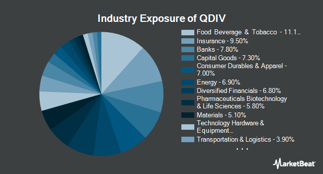 Industry Exposure of Global X S&P 500 Quality Dividend ETF (BATS:QDIV)