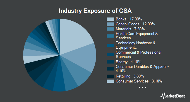 Industry Exposure of VictoryShares US Small Cap Volatility Wtd (NASDAQ:CSA)