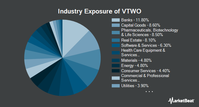 Industry Exposure of Vanguard Russell 2000 (NASDAQ:VTWO)