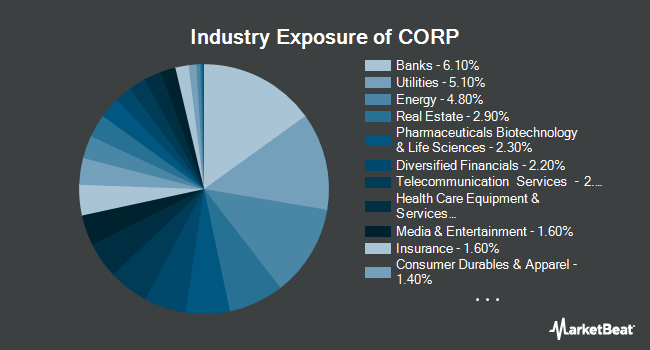 Industry Exposure of PIMCO Investment Grade Corporate Bond Index Exchange-Traded Fund (NYSEARCA:CORP)