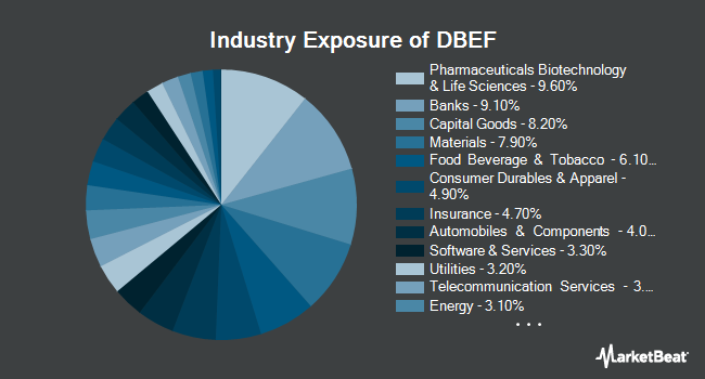 Industry Exposure of X-trackers MSCI EAFE Hedged Equity Fund (NYSEARCA:DBEF)
