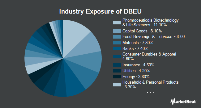 Industry Exposure of X-trackers MSCI Europe Hedged Equity Fund (NYSEARCA:DBEU)