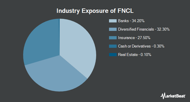 Industry Exposure of Fidelity MSCI Financials Index ETF (NYSEARCA:FNCL)