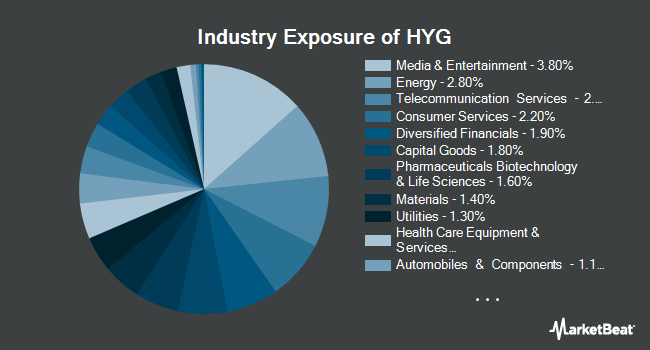 Industry Exposure of iShares iBoxx $ High Yield Corporate Bond ETF (NYSEARCA:HYG)