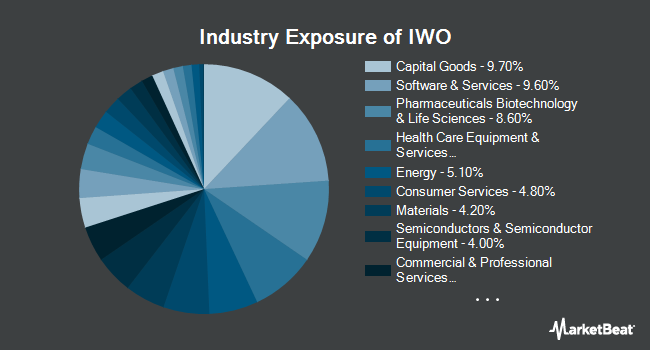 Industry Exposure of iShares Russell 2000 Growth ETF (NYSEARCA:IWO)