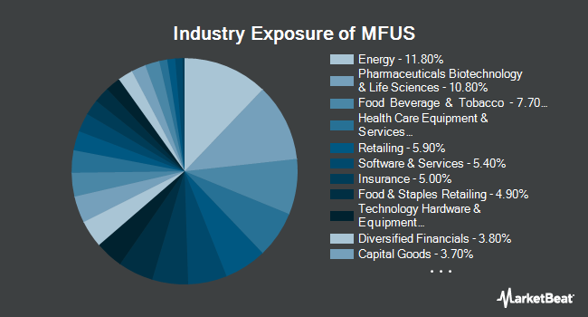 Industry Exposure of PIMCO RAFI Dynamic Multi-Factor U.S. Equity ETF (NYSEARCA:MFUS)