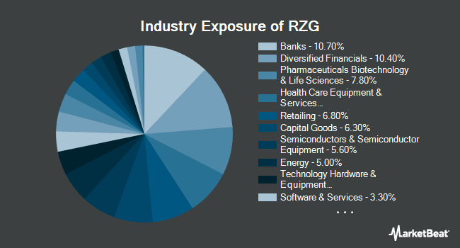 Industry Exposure of Invesco S&P SmallCap 600 Pure Growth ETF (NYSEARCA:RZG)