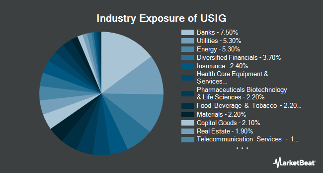 Industry Exposure of iShares Broad USD Investment Grade Corporate Bond ETF (NYSEARCA:USIG)