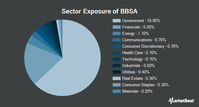 Sector Exposure of JPMORGAN BETABUILDERS 1-5 YEAR U.S. AGGREGATE BOND ETF (BATS:BBSA)