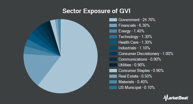 Sector Exposure of iShares Intermediate Government/Credit Bond ETF (BATS:GVI)